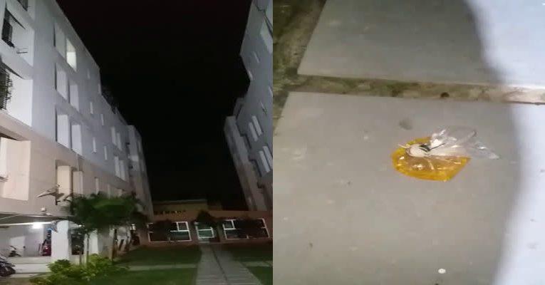 பல்லாவரம் அருகே பரபரப்பு: குடியிருப்பு மீது பெட்ரோல் குண்டு வீசிய கல்லூரி மாணவர்!